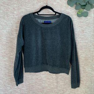 [aeropostale] Velour Oversized Cropped Sweatshirt